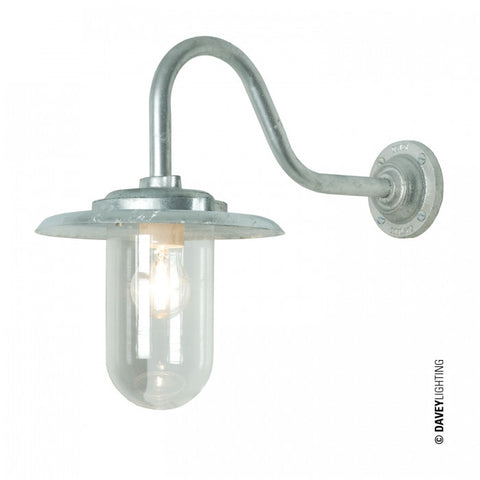Exterior Bracket Light, 100W, Swan Neck 7677 - Original BTC Australia