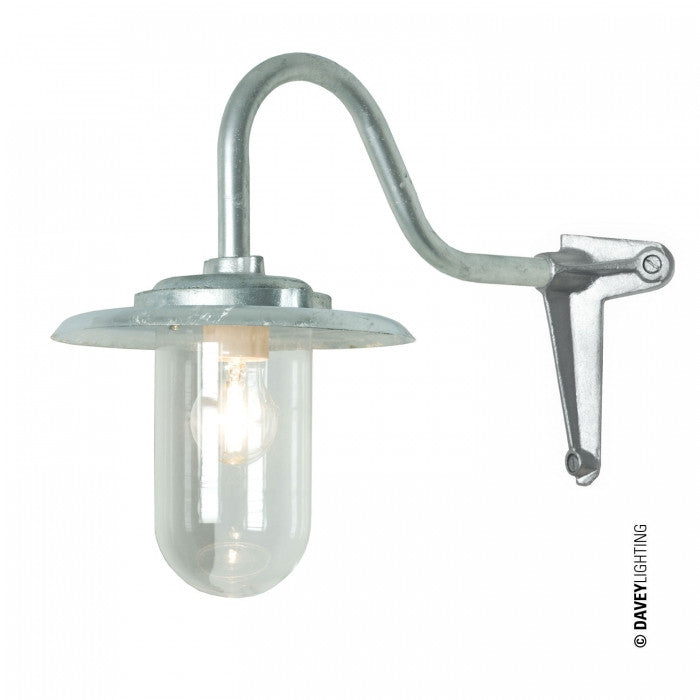 Exterior Bracket Light, 100W, Swan Neck, Corner 7677 - Original BTC Australia