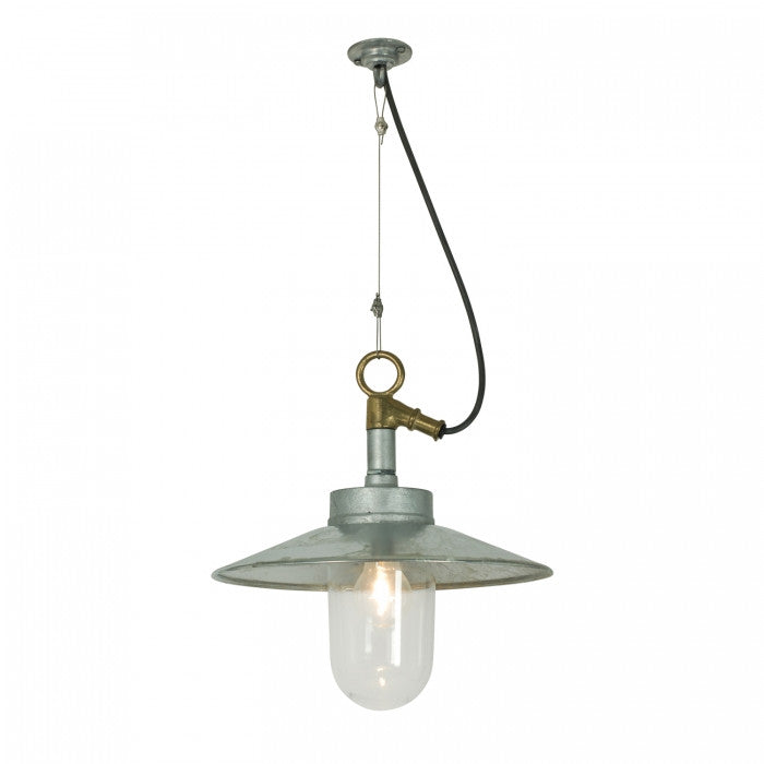Well Glass Pendant With Visor 7680 IP44 - Original BTC Australia