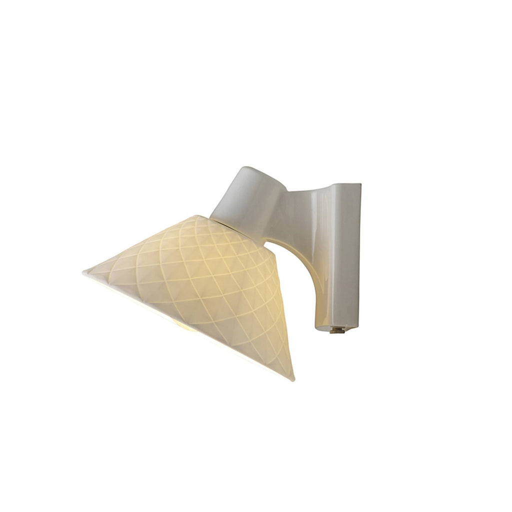 OXFORD 2 BONE CHINA PITCHED WALL LIGHT - Original BTC Australia