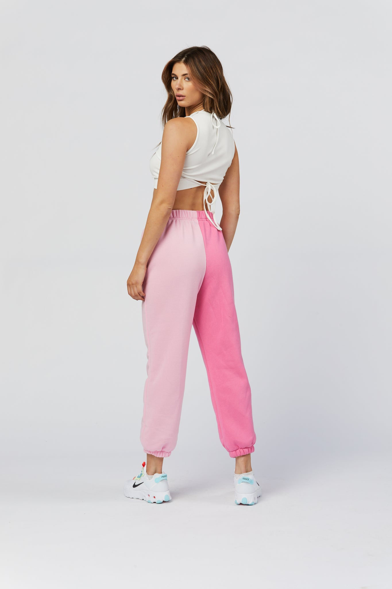 Two Tone Sweats - Pink