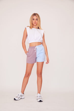 Two Tone Shorts - Blue/Lavender