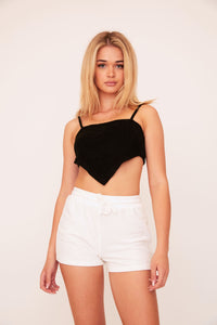 Terry Crop Top - Black