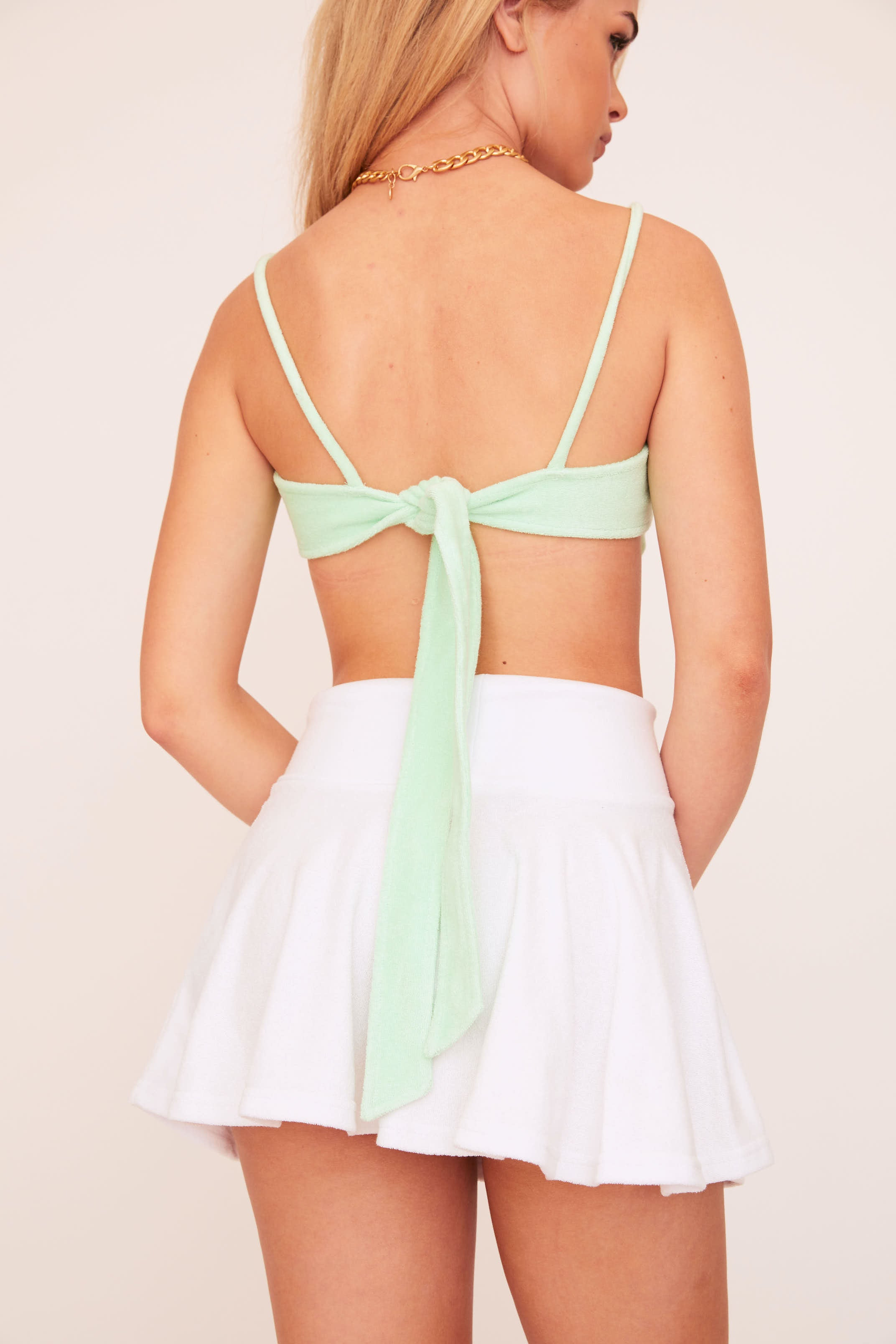 Terry Crop Top - Mint