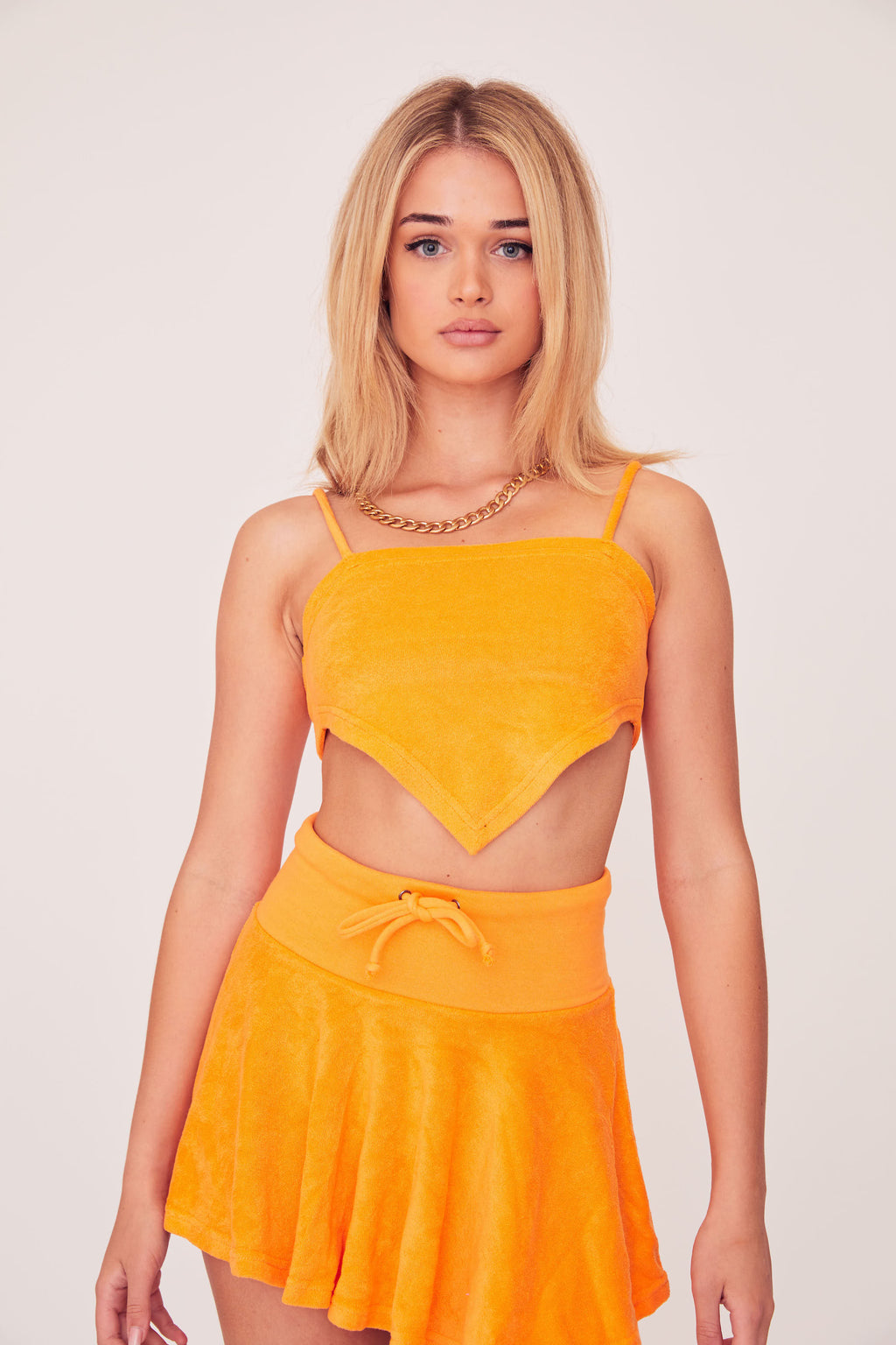 Terry Crop Top - Orange