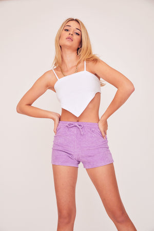 Terry Crop Top - White