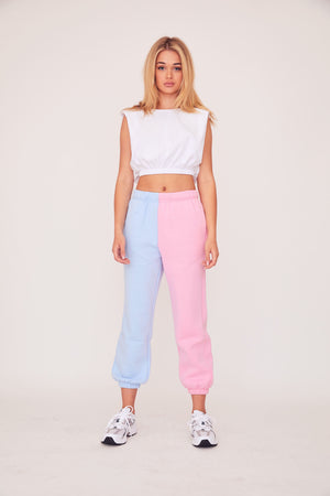 Two Tone Sweats - Pink/Blue