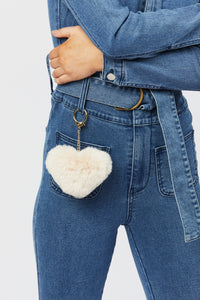 Faux Fur Keychain - Cream