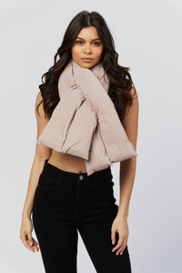 Lavender Puffer Scarf