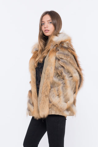 shaci lusso 70 red fox fur jacket