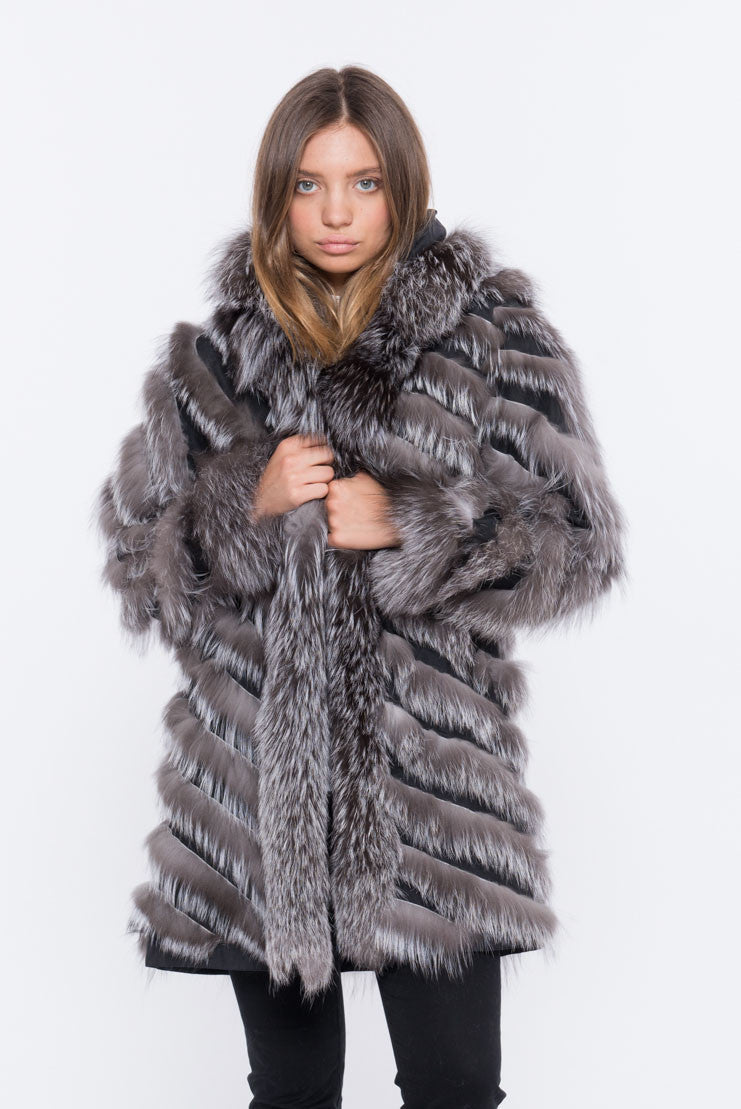 shaci lusso 90 reversible fur jacket
