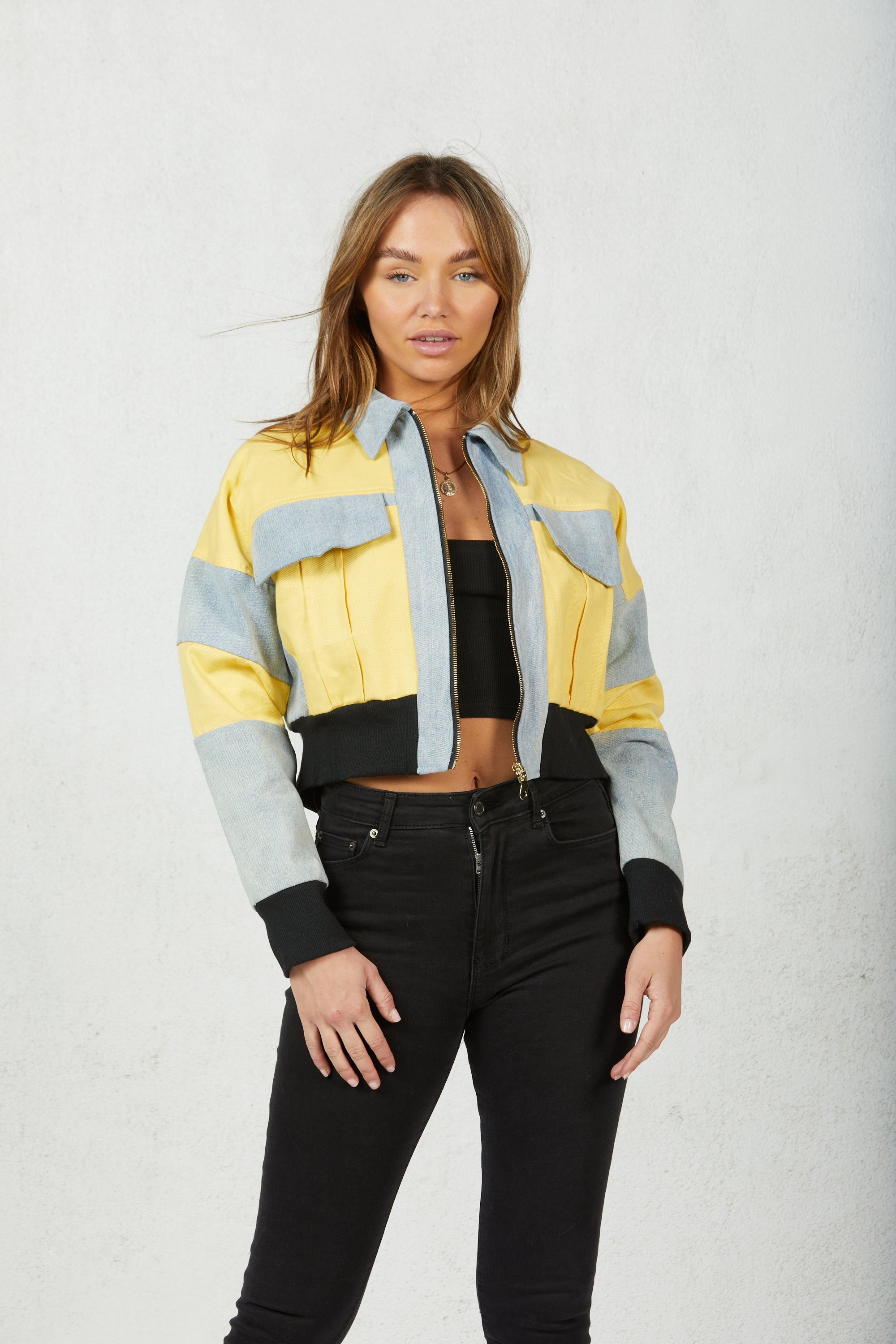 Demi Colorblock Denim Jacket