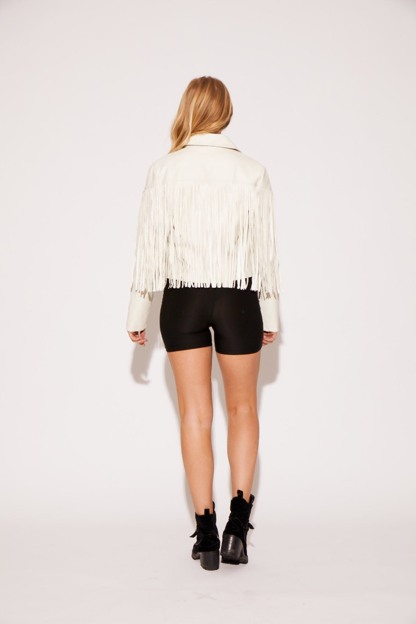 shaci white fringe jacket