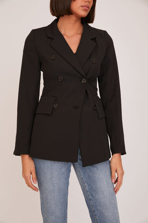 shaci kelly black blazer jacket