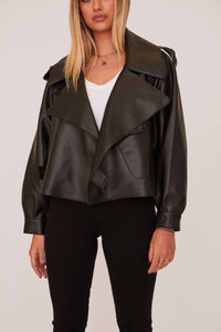 shaci matignon vegan black leather jacket