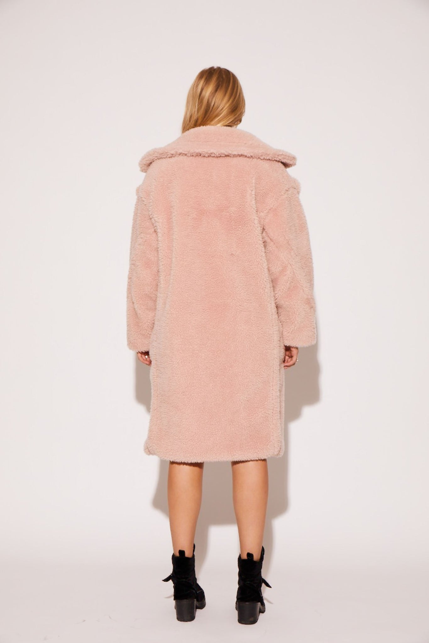shaci pastel baby pink cozy coat