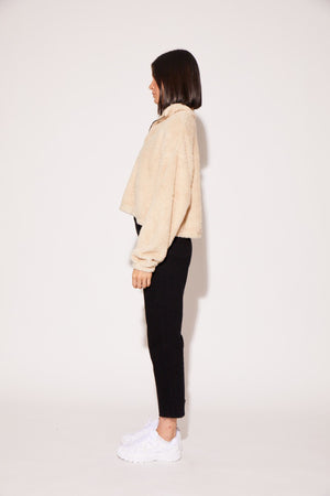 shaci cropped pullover jacket cream
