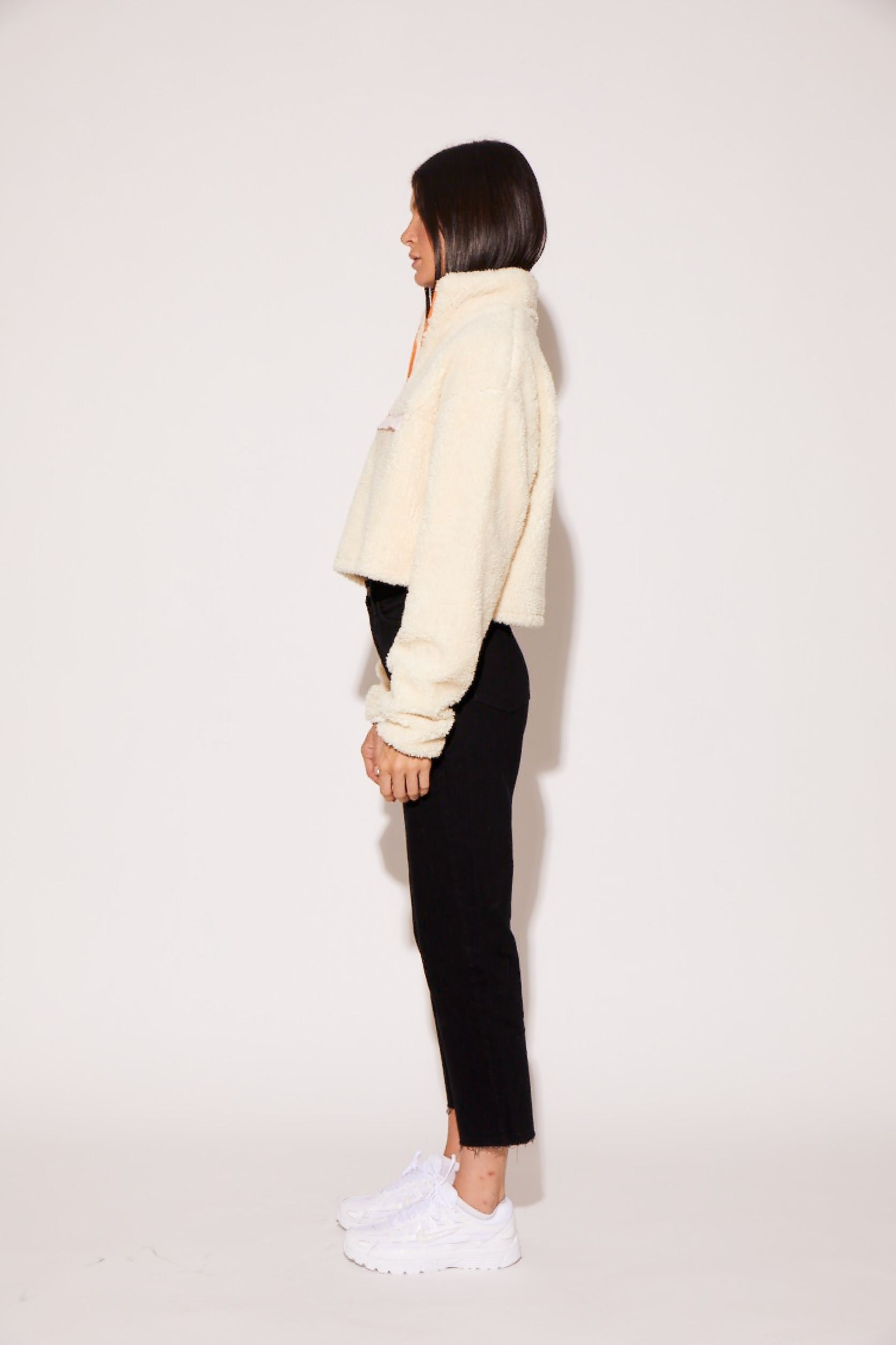 shaci pullover jacket cream orange pink