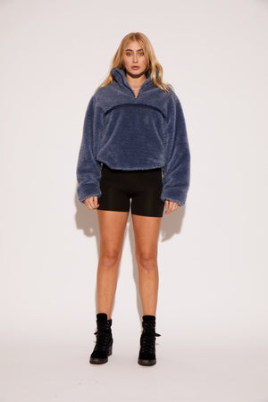 shaci cropped pullover jacket navy