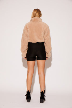 shaci pullover jacket tan forest green