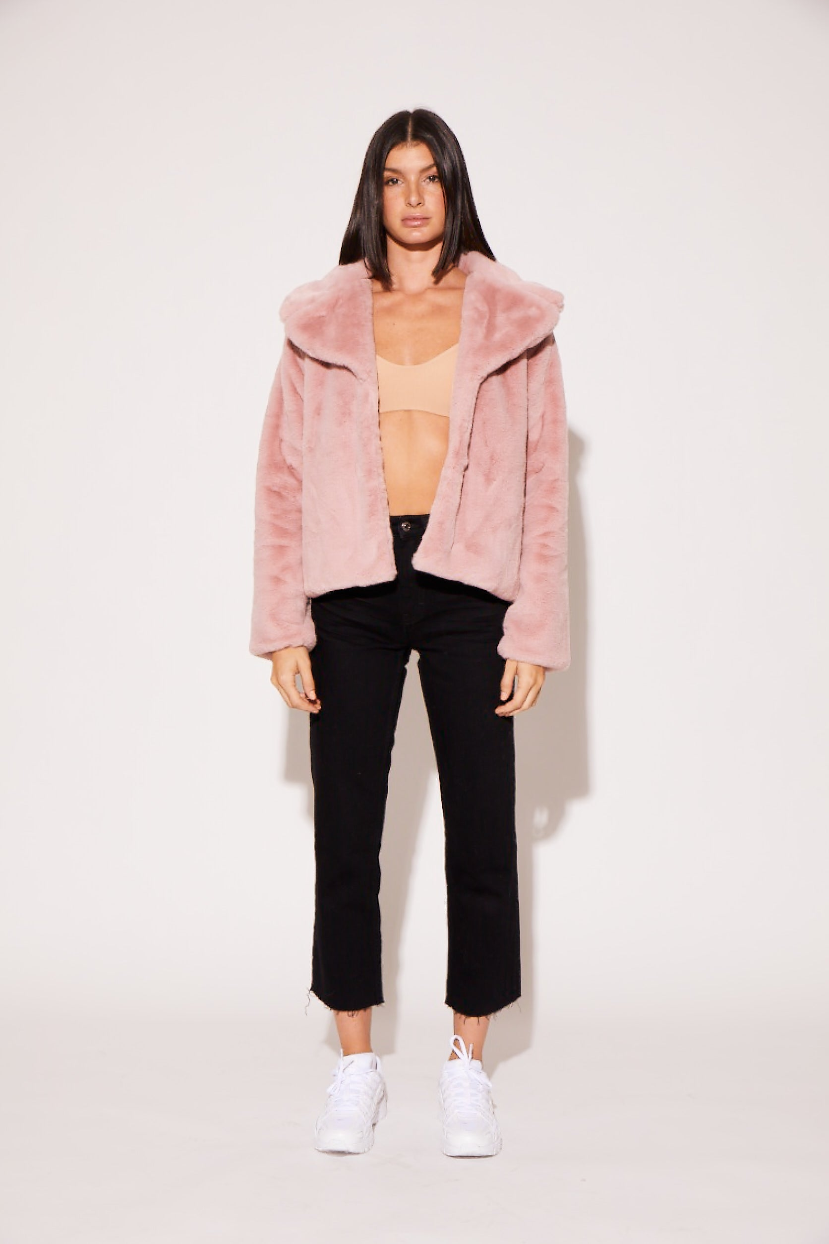 shaci rose faux fur jacket