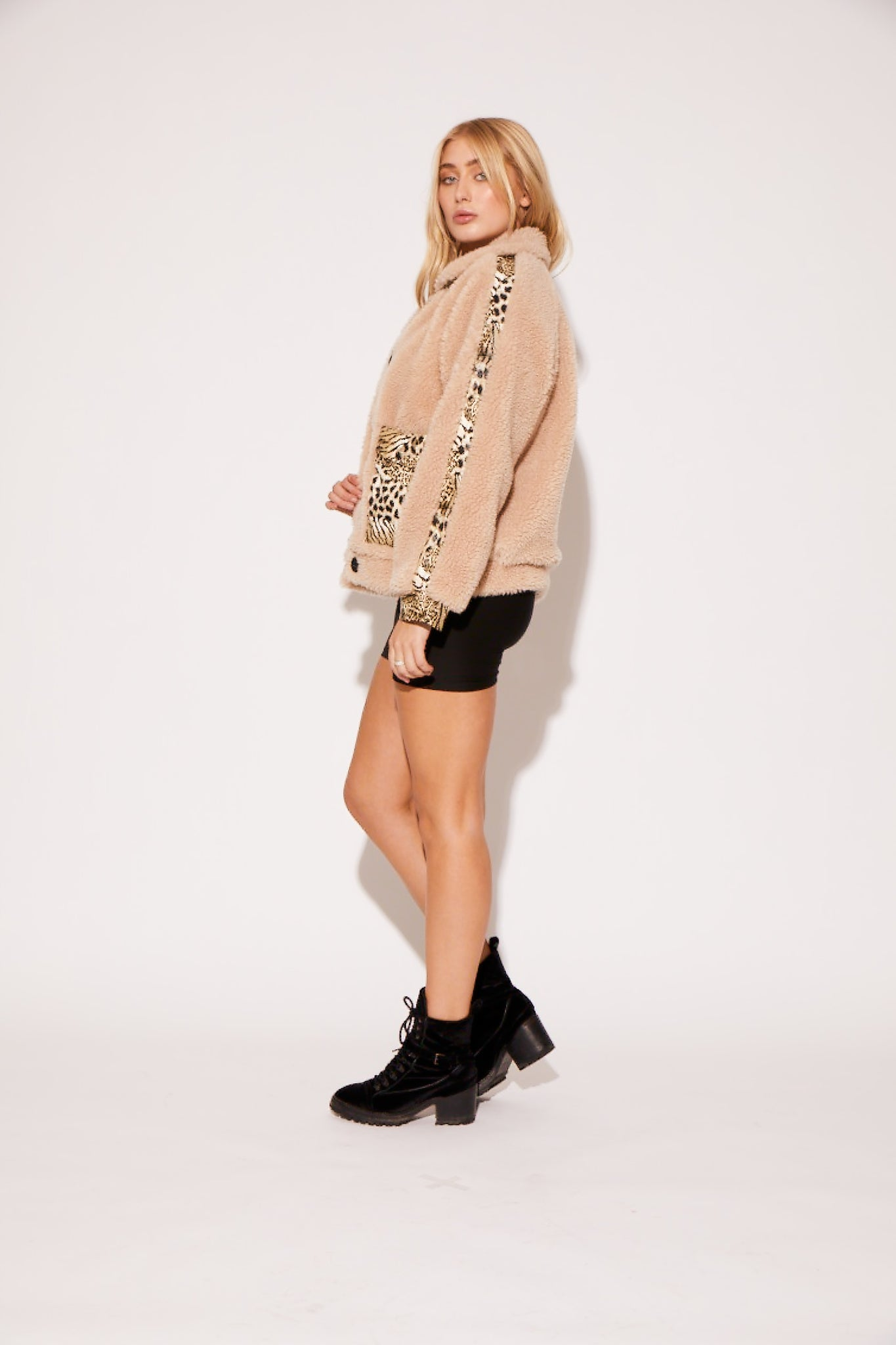 shaci safari teddy jacket