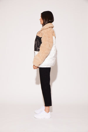 shaci teddy puffer coat