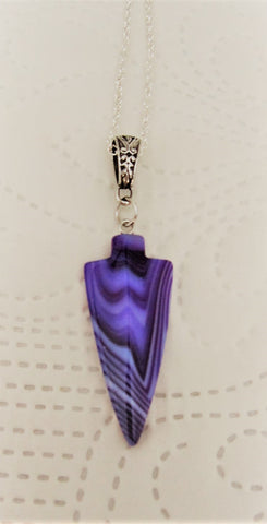 Purple Arrowhead Pendant