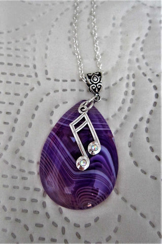 Purple Pendant Music Note