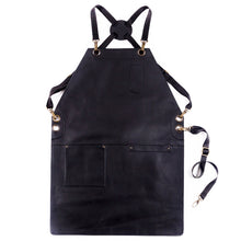 Load image into Gallery viewer, Morito Apron - Black bold leather