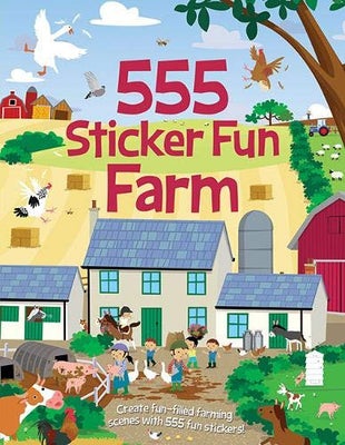 555 Sticker Fun Farm Paperback Topical Books