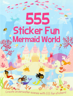 555 Sticker Fun Mermaid World  topicalbooks.com
