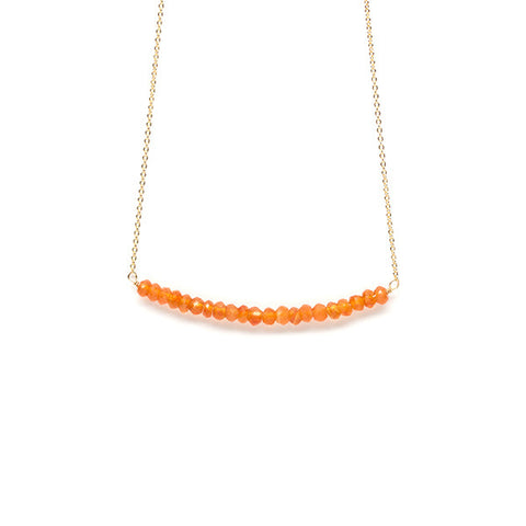 Beaded Bar Necklace // Carnelian