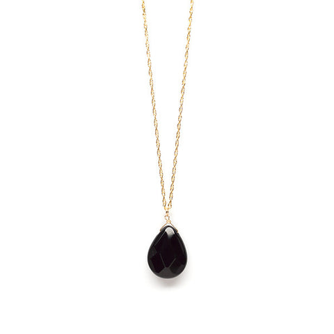 30-inch Pendant Necklace // Black Spinel