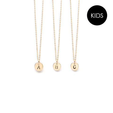 EJDkids // The Mini Initial Necklace // 14k Gold-Filled