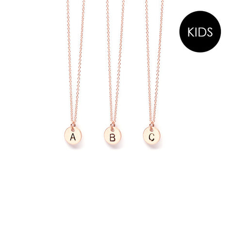 EJDkids // The Mini Initial Necklace // 14k Rose Gold-Filled