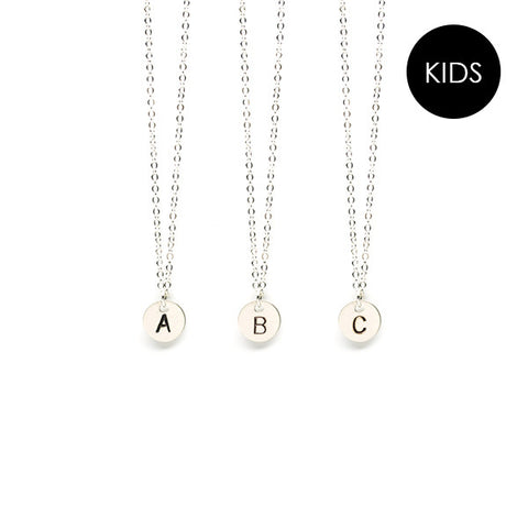EJDkids // The Mini Initial Necklace // Sterling Silver
