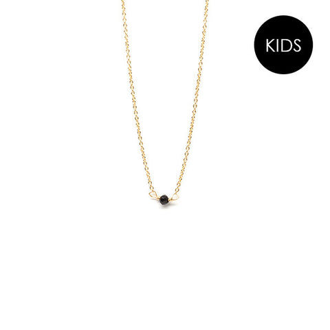 EJDkids // The Mini Seed Necklace // Black Spinel