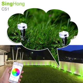 SingHong Bluetooth RGB Smart Connected Lighting LED Garden Spot Outdoor Landscape Lighting - ShopNowBeforeYouDie.com