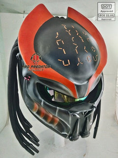 SY05-2 Custom Predator Motorcycle Dot Approved,ECE Helmet Airbrush