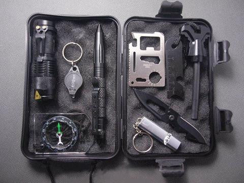 SUPER 10 in 1 Professional Survival Kit Outdoor Travel Hike Field Camp Emergency Kit - ShopNowBeforeYouDie.com