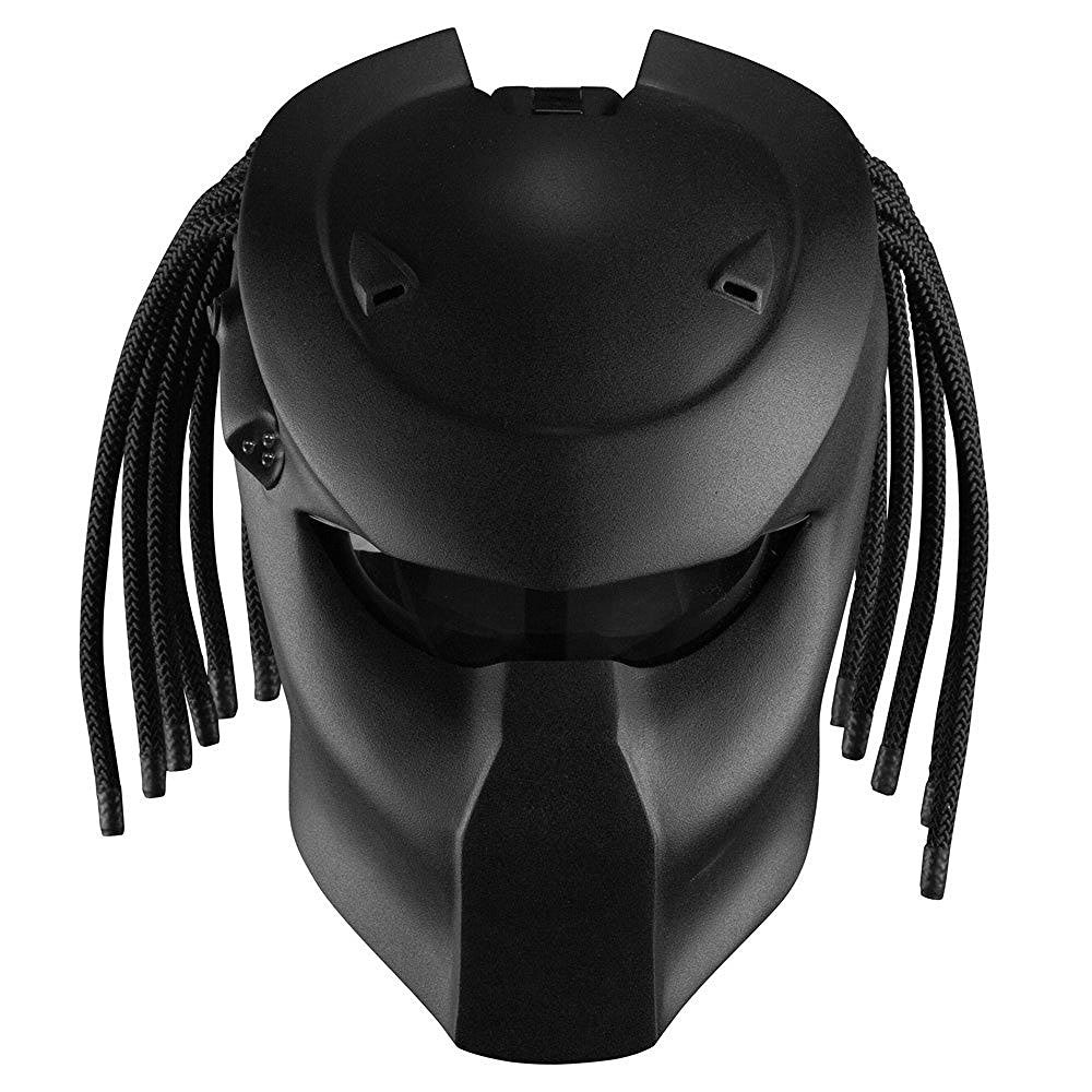 Predator Original motorcycle DOT custom novelty helmet (X-large, black original)