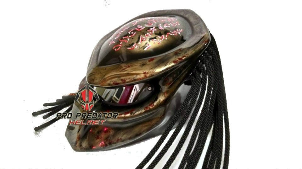 T19 Custom Predator Motorcycle Dot Approved Helmet