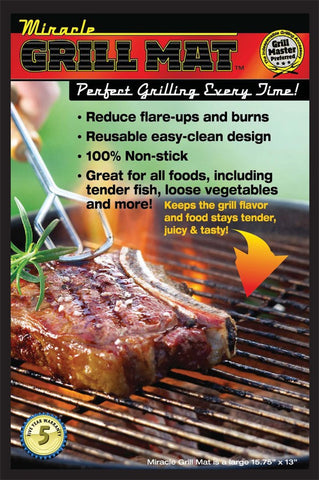 2pcs MIRACLE BBQ Grill Mat Sheet (as on the Video) (FREE ITEM) - ShopNowBeforeYouDie.com