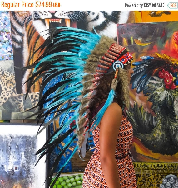Real Feather Chief Headdress - ShopNowBeforeYouDie.com
