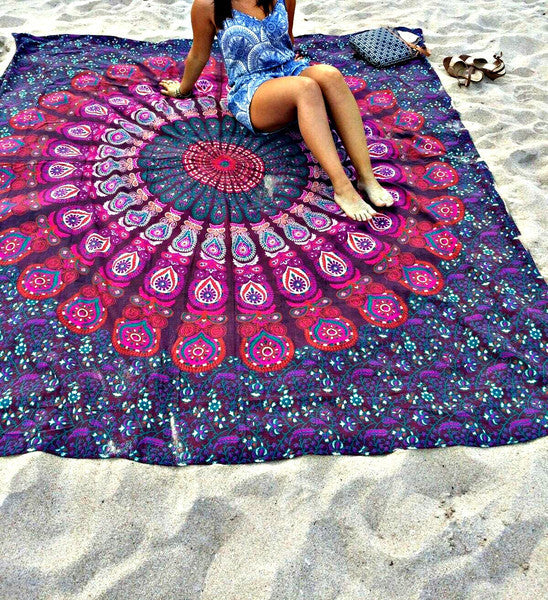 Kylie Trending Boho Mandala Hippie Tapestry (8 Colours available) ( 140cmx210cm 175cmx220cm) Fashion