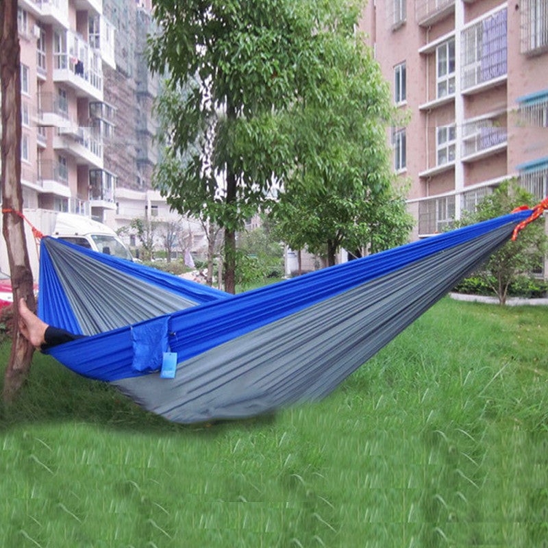 1x portable mixed stripe color Single Hammock - ShopNowBeforeYouDie.com