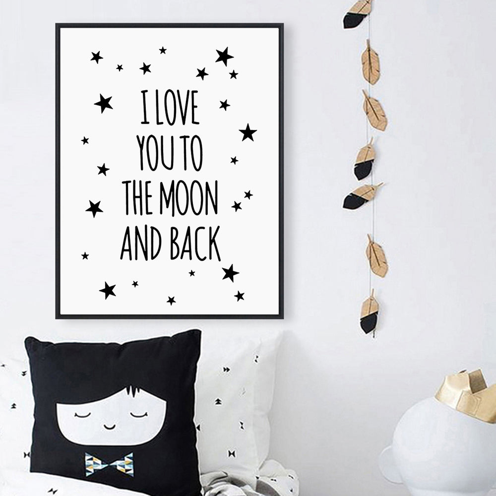 Modern Home Decoration Nordic Black White Love Quote Poster on the Wall Pictures canvas art painting Print for living room