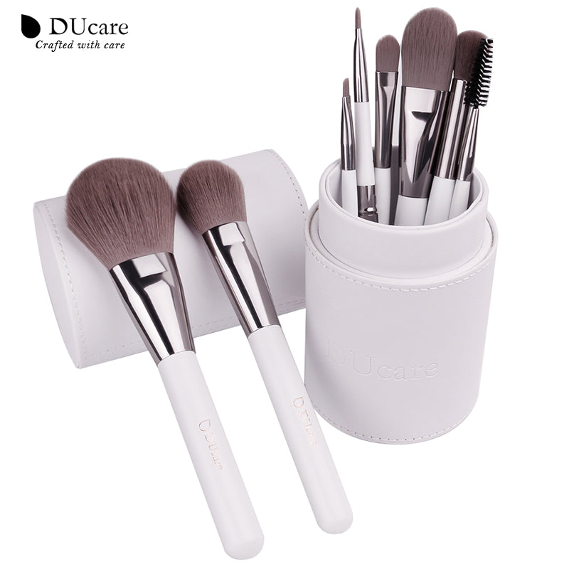 New Arrival Makeup Brushes professional Cosmetics brush Set 8pcs High Quality top Synthetic Hair With White Cylinder brush set