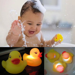 Yellow Rubber Duck Bath Flashing Light Toy Auto Color Changing Baby Bathroom Toys Multi Color LED Lamp Bath Toys For Children - ShopNowBeforeYouDie.com